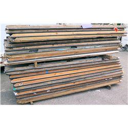 Approx. Qty 15 Wood Top Rectangular Folding Tables w/ Metal Legs