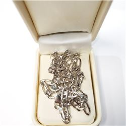 """Silver Italy Rodium Plated 22"""" 24G Necklace (~weight 24g), Suggested Retail Value $500"""