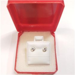 10K Yellow Gold Cubic Zirconia Earrings, Made in Canada, Suggested Retail Value $160