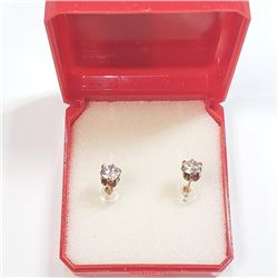 10K Yellow Gold Cubic Zirconia Earrings, Suggested Retail Value $200