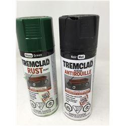 Tremcladd Rust Paint-Gloss Green and Matt Black
