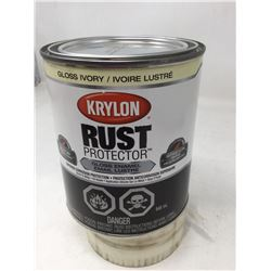 Krylon Rust Protector Gloss Enamel- Gloss Ivory (946ml)