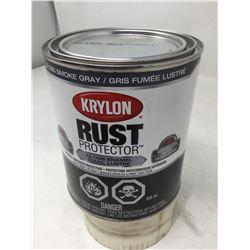 Krylon Rust Protector Gloss Enamel- Gloss Smoke Gray (946ml)