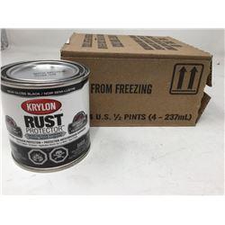 Krylon Rust Protector Semi-Gloss Enamel- Semi-Gloss Black (4 x .5 Pints)