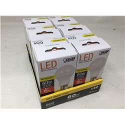 LED Mutli-Use A19 Non Dimmable 60w Bulbs (6ct)