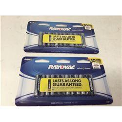 Rayovac High Energy AAA Batteries (2 x 12)