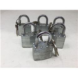 Padlock and Key Sets (6)