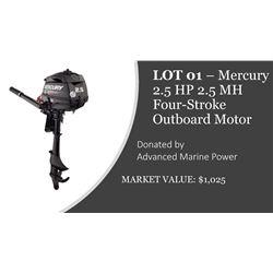 Mercury 2.5 HP Four-stroke Outboard Motor