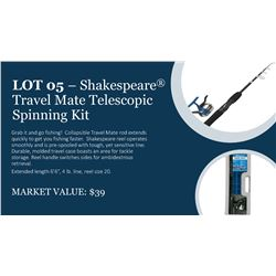 Shakespeare Travel Mate Collapsible Fishing Rod Set