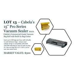 """Cabela's 15"""" Pro Series Vacuum Sealer with box of bag roll"""