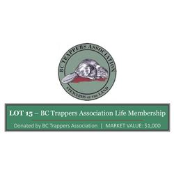 BC Trappers Association Life Membership