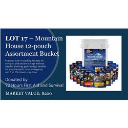 Mountain House 12 Pouch Sampler Bucket