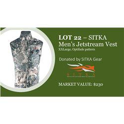 Stika Jetstream Vest, mens size Xxlarge, open country optifade pattern