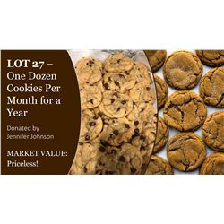 1 dozen cookies a month for a year