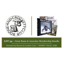 """""""Great Rams IV"""" Book & Sportsman Assoc Membership bundle"""