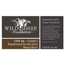 2021 Couples Registration package  - Sheep Show