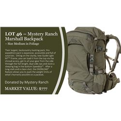 Mystery Ranch Marshall Backpack in Foliage ~ Size Medium