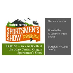 2021 Booth Donation - Central Oregon Sportsmens Show