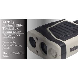 Bushnell Elite Tactical 7x26mm Laser Rangefinder, model 202421