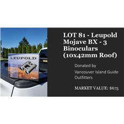 Leupold Mojave BX - 3 Binoculars (10x42mm Roof)