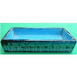 Mid-Century Modern Italian, Rimini Blue Aldo Londi Bitossi Raymor Ceramic Desk Tray