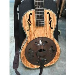Washburn Spalted Maple Parlor Resonator Guitar
