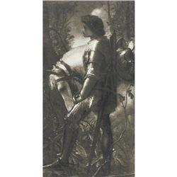 Vintage c1920's Half-tone Print, #940 Sir Galahad
