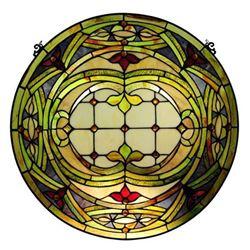 Tiffany-style Round Art Glass Window