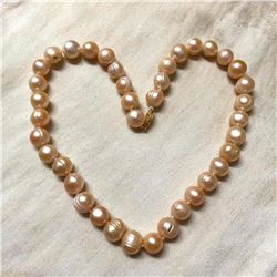 "10-11mm Pink Baroque South Sea Pearl 18"" Necklace"