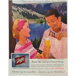 1959 Mid-century Schlitz Milwaukee Beer Magazine Advertisement