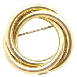 Vintage Signed 12kt Gold Filled Circle Brooch Pin