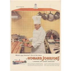 1955 Howard Johnson's Kitchen Magazine Advertisement