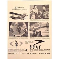 1946 British Airways Magazine Advertisement