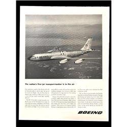 1956 Boeing Jet KC-135 Transport-Tanker Magazine Ad