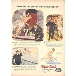 Vintage 1940's White Rock Sparkling Water Magazine Ad