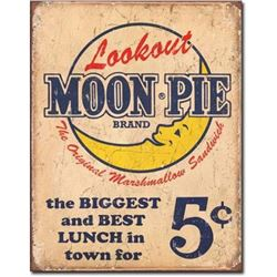 Vintage-style Moon Pie Lunch Metal Pub Bar Sign