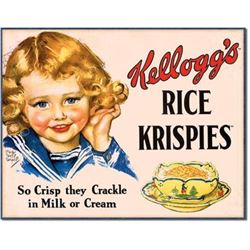 Vintage-style Rice Krispies Metal Kitchen Sign