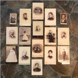 Grouping of 19th Century Cabinet Cards, Photos of Victorian Women, Men & Children