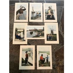 Early 1900's Grand Tour Travel Postcards, Dutch Folk Dress, Holland