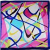 Image 2 : Colorful Abstract Ladies Silk Summer Scarf