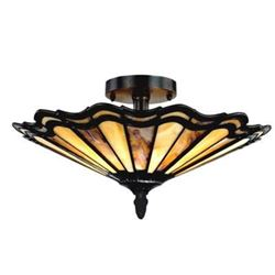 Mission Style Art Glass Ceiling Light Fixture