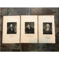 19thc Steel Engravings, 18th - Early 19thc New York Statesmen