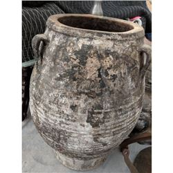 Very Large Italian Terra Cotta Pottery Olive Urn