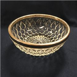 Vintage Mid-Century Pressed Glass Silver-plate Bowl