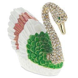 Russian Swan Trinket Jewel Box