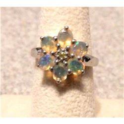 1.27ct Ethiopain Opal & Ambilobe Sphene Sterling Silver Ring