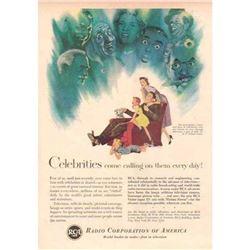 1942 RCA Television Advertisement, Saturday Evening Post