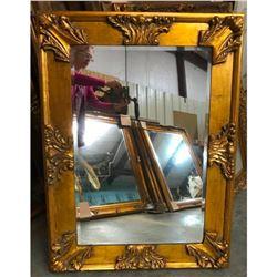 Florentine Style Carved Wood & Gilt Beveled Mirror