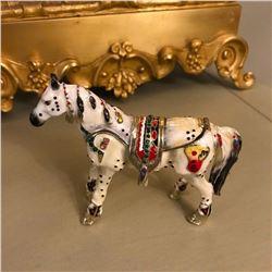 Russian Jeweled Horse Trinket Jewel Box