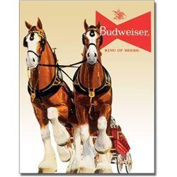 Budweiser Clydesdale Horses Metal Pub Bar Sign